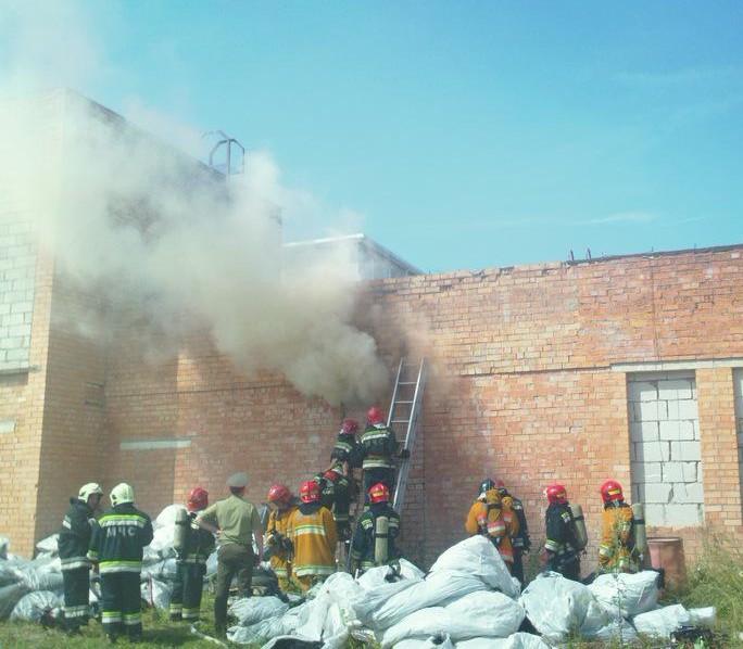 В Минске на трикотажной фабрике произошел пожар