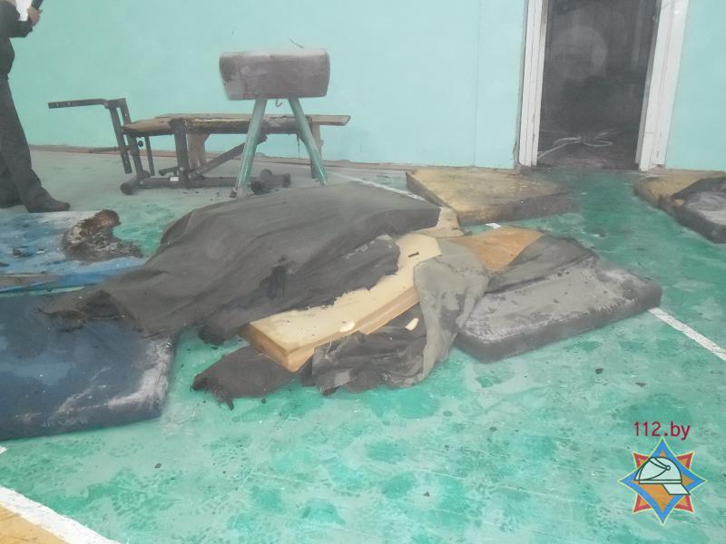 В Лунинце горела школа, эвакуировано 420 учащихся