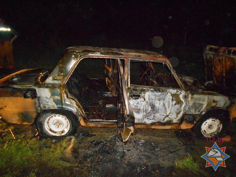 Сгоревший автомобиль «ВАЗ-2106»