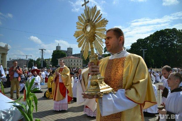 Шествие католиков в Минске