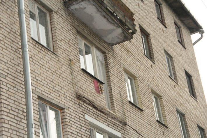Обрущившийся балкон