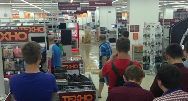 "Затопление гипермаркета ""Корона Техно"""