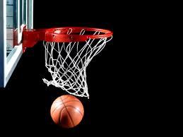 баскетбольный мяч в корзине
