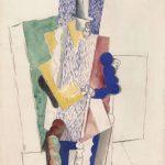 Картина Пикассо «Человек в цилиндре»