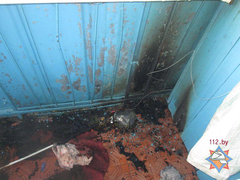 Поврежденный огнем балкон
