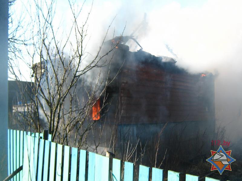 В Брагинском районе на пожаре погибли двое малолетних детей