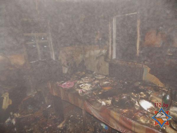 В Чашникском районе после поминок на пожаре погибли три человека