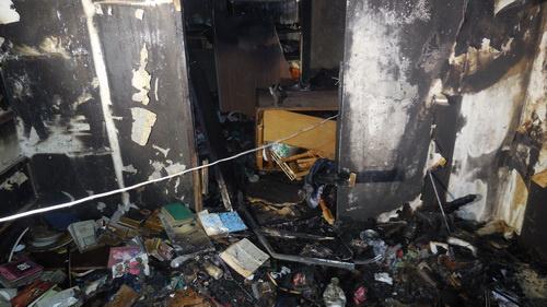 квартира после пожара