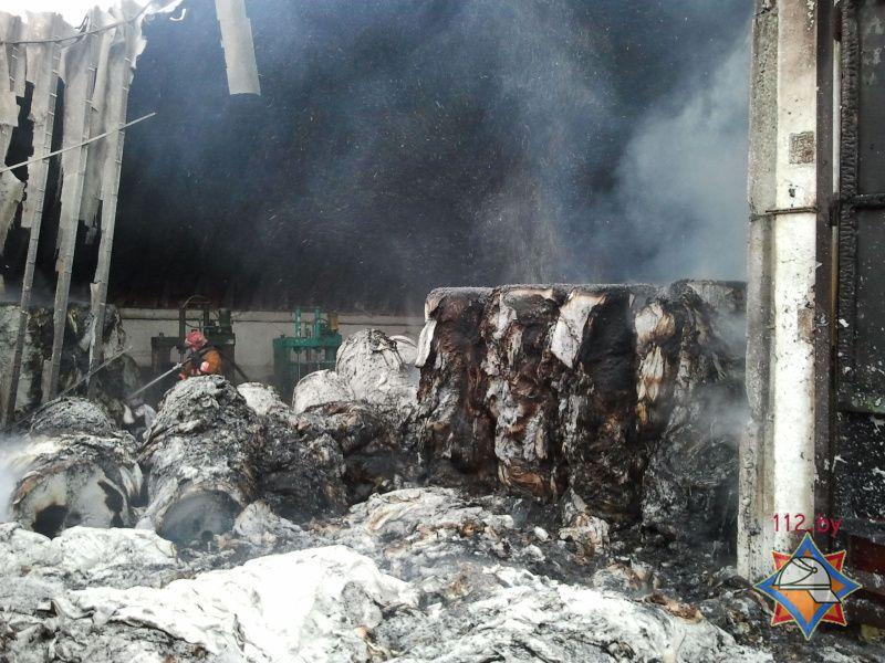 пожар в цеху по производству туалетной бумаги