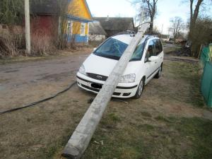 пострадавший автомобиль от Ев
