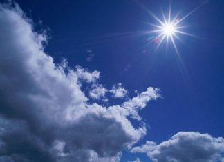 солнце с небе