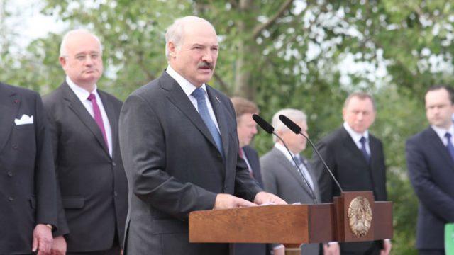 Лукашенко на церемонии