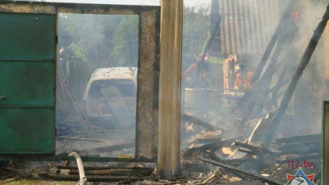 Пожар в селе