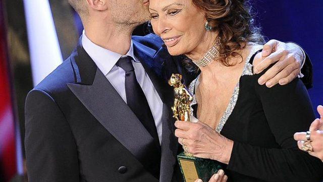 Софи Лорен и её сын