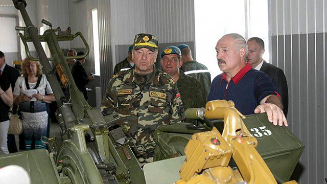 Лукашенко про вооружение
