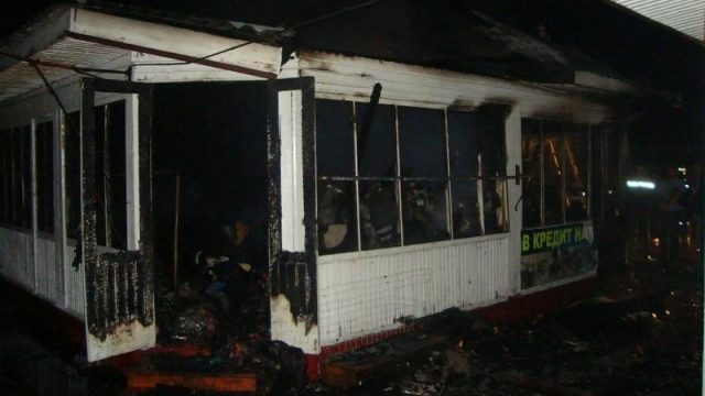 пожар на рынке в Лельчицах