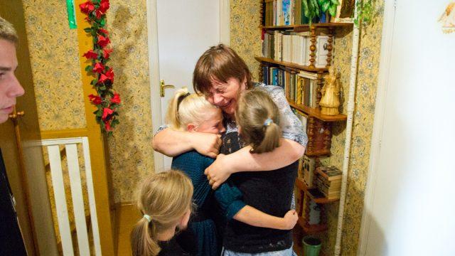 Ирина Моцная с детьми