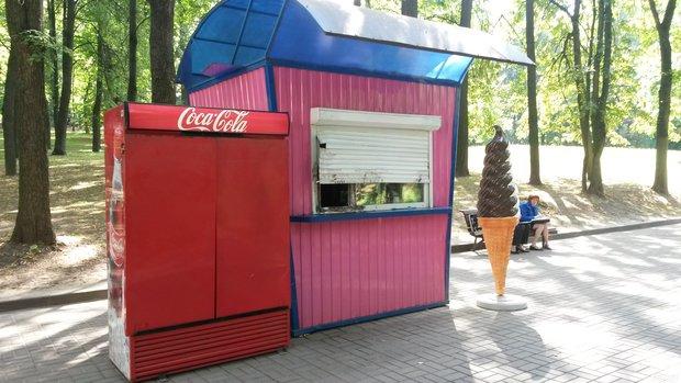 взломан киоск в парке Горького
