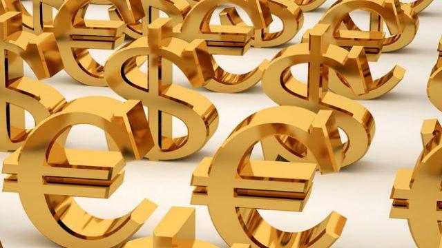 Знаки доллара и евро