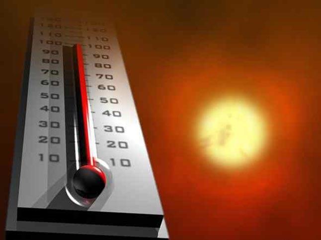 Термометр и солнце