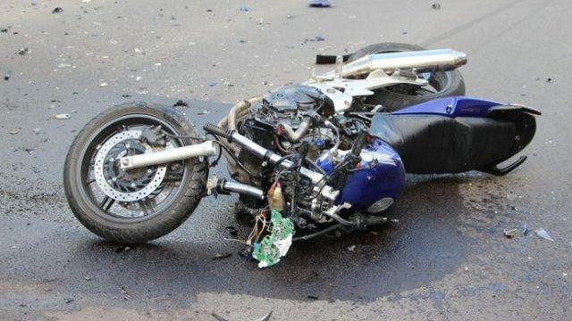 Мотоцикл после ДТП