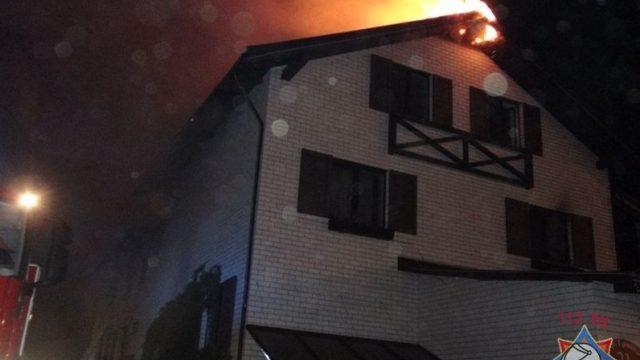 пожар в минском отеле