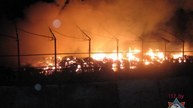 пожар на сеноскладе