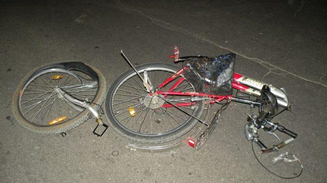 Сбитый велосипед