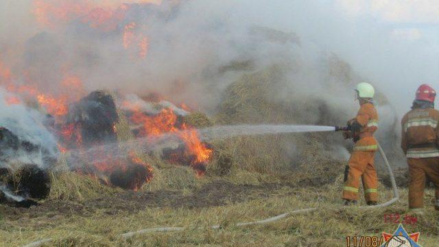 Возгорание соломы