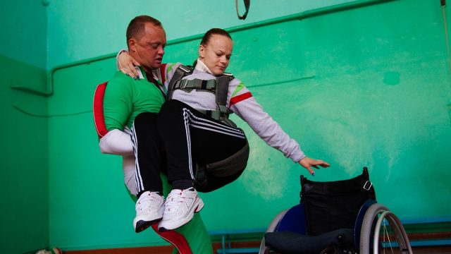 Акция спортсменов - колясочников