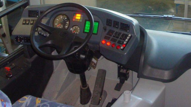 Место водителя в автобусе