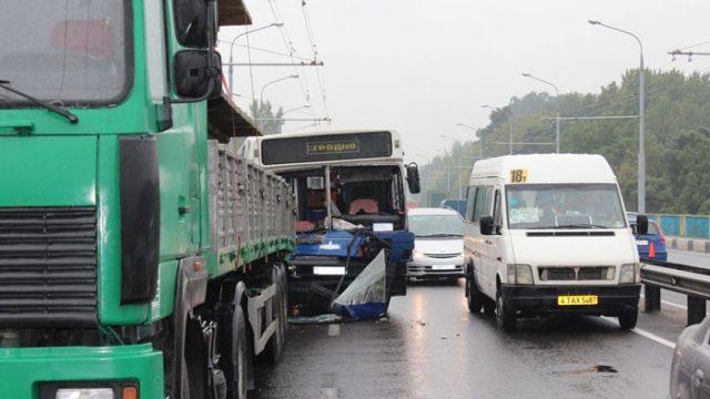 Авария с автобусом