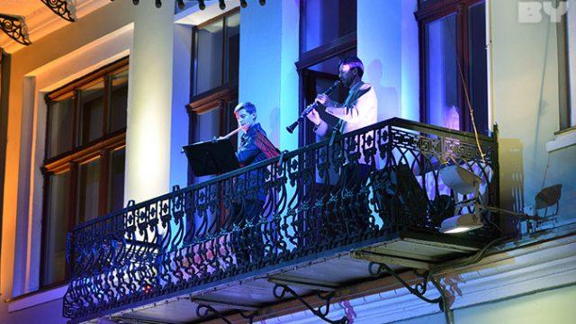 Концерт на балконе в Гродно