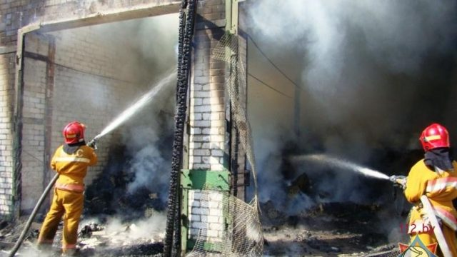пожар на слонимской птицефабрике