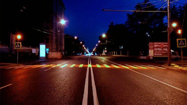 световой коридор для пешеходов