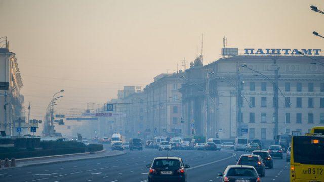 смог в Минске