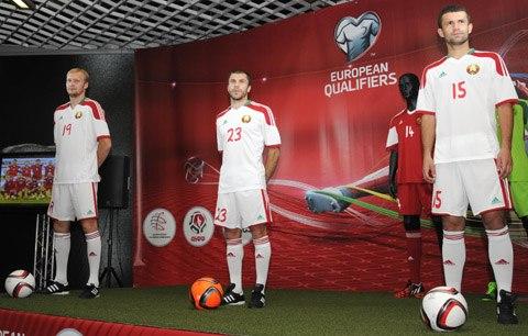 презентация формы белорусской сборной по футболу