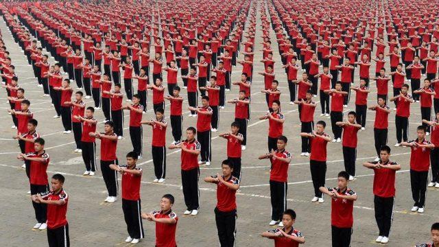 участники фестиваля кунгфу
