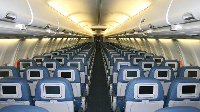 внутри  Boeing 737-800