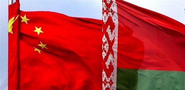 Флаги Китая и Беларуси