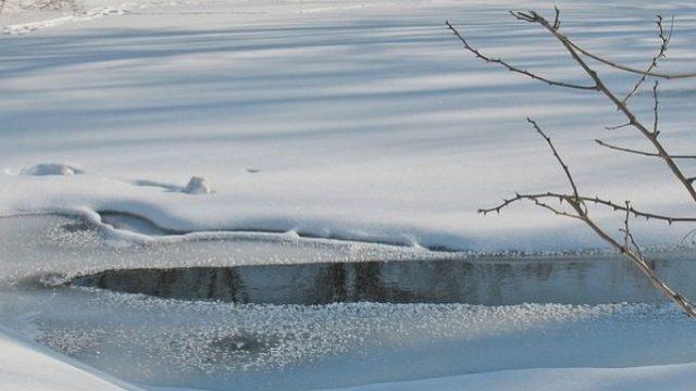 провалиться под лёд