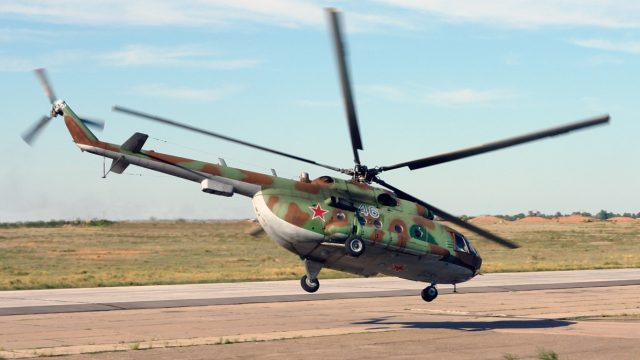 упал вертолёт Ми-8