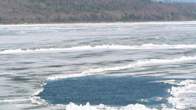 рыбак провалился под лёд