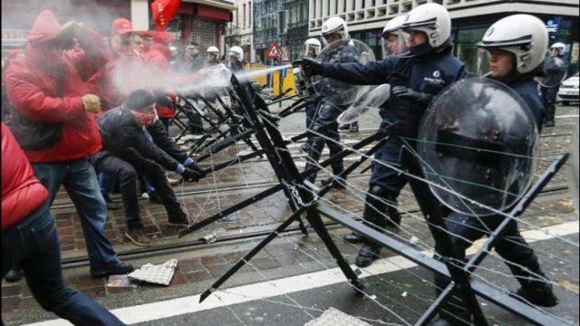 столкновение с полицией