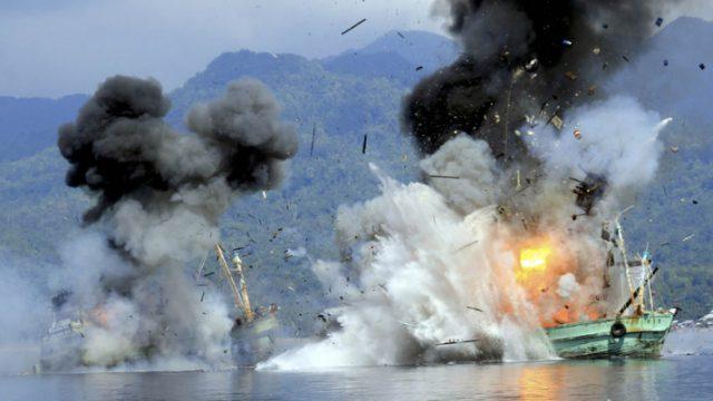 уничтожение лодок