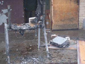 Пожар в Пинске: горел торговый центр, размещенный в жилом доме