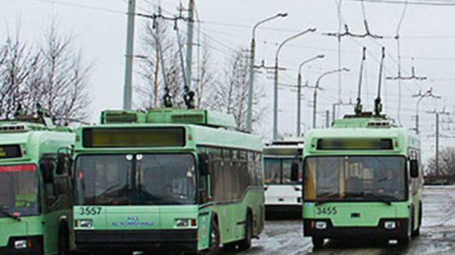 троллейбус сбил пешехода