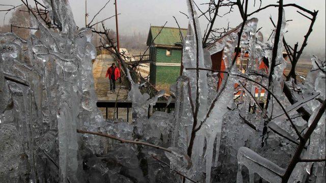 сосульки в Кашмире