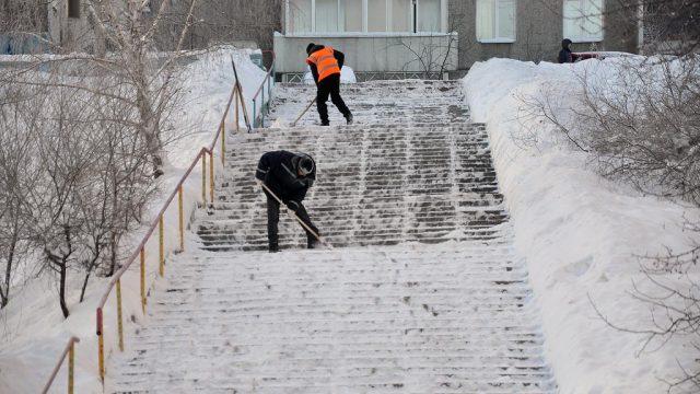 Уборка улиц в Минске