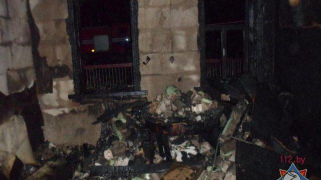 пожар в Жлобине